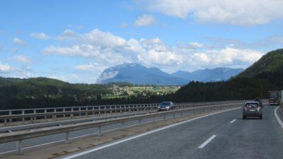Sur l'autoroute entre Ljubljana et Villach
