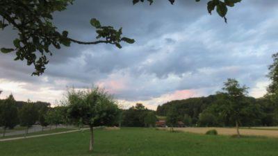 Coucher de soleil sur Zusmarshausen - Allemagne