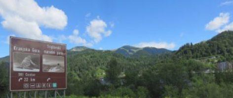Panneau de Kranjska Gora - la station de ski slovène