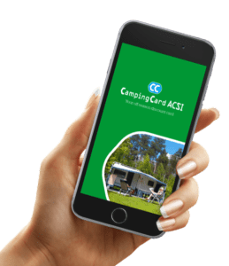 Application smartphone  Campingcard ACSI