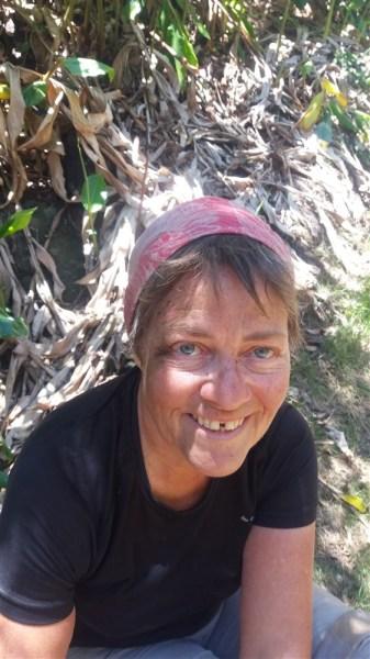 Myriam après sa chute  au retour de la Randonnée Salazie - Mafate par la plaine des Tamarins