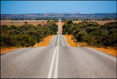 Les routes droites d'Australie