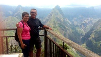 Vue sur Mafate depuis le Belvédère du Cap Noir
