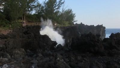 Falaises déchiquetées près du port de Langevin - Réunion