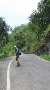 La route étroite et raide de Grand Galet - Réunion