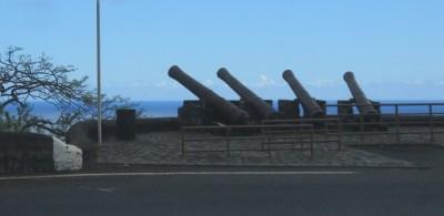 Batterie de canons route de La Montagne Saint-Denis La Réunion