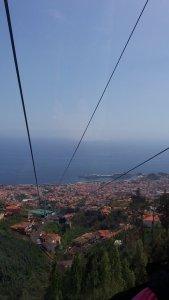 Descente en téléphérique depuis le jardin botanique de Monte - Funchal (Madère)