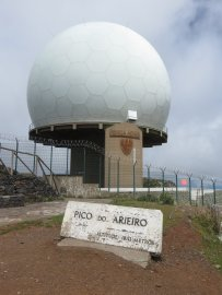 Le radar du Pico de Arieiro - Madère