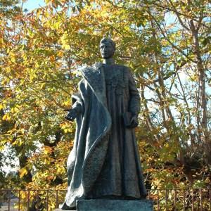 La statue de Charles de Habsbourg empereur d'Autriche à Monte (Funchal - Madère)