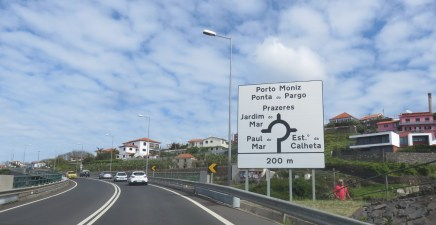 Panneau routier - Madère