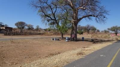 sur la route de Kachikau - Botswana