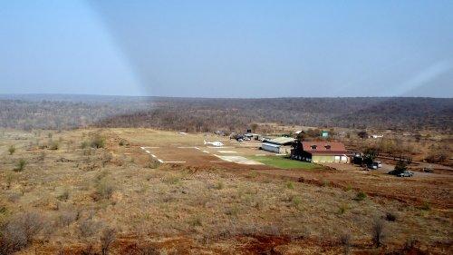 Fin du vol - Arrivée sur l'héliport - Victoria Falls (Zimbabwe)