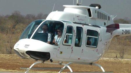 Fin du vol en hélicoptère sur les Victoria Falls - Zimbabwe