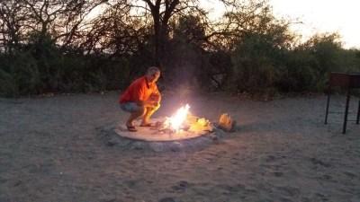 Bivouac au campsite de Khumaga - Makgadikgadi NP (Botswana)
