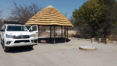 Notre emplacement au campsite Planet Baobab - Botswana