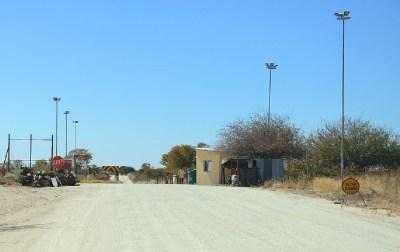 Barrière vétérinaire au Nord de Maun - Botswana