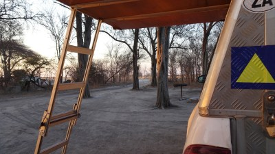 Au campsite de South Camp - Nxai Pan NP (Botswana)