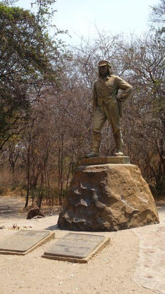 Statue de David Livingstone - Victoria Falls (Zimbabwe)