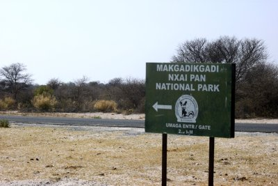 Arrivée au Makgadikgadi NP - Botswana