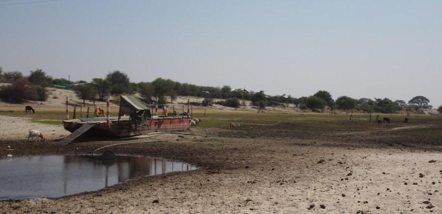 La rivière Boteti (à sec) - Makgagikgadi NP (Botswana)