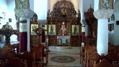 intérieur de l'église orthodoxe grecque Saint-Nicolas à la Havane - Cuba.