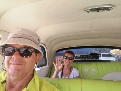 Dans notre taxi - La Havane (Cuba)
