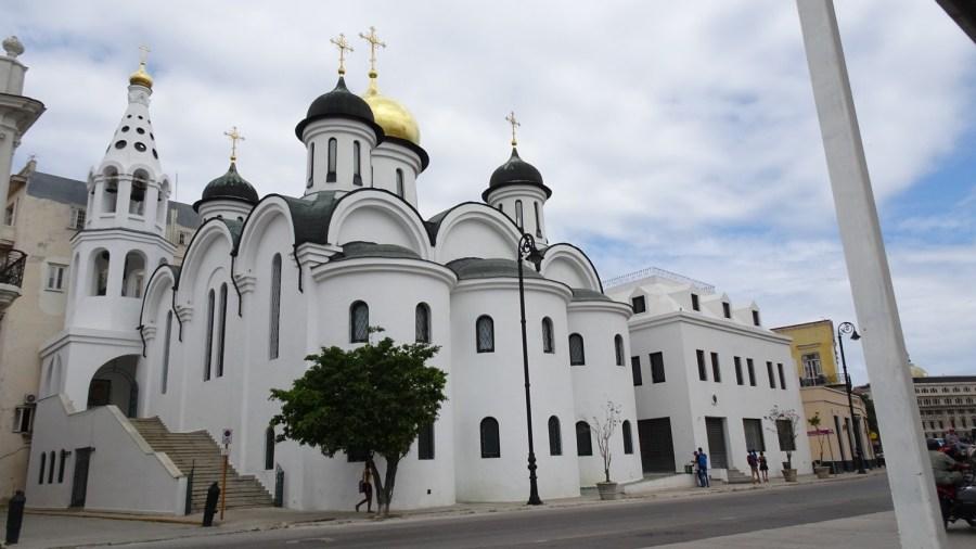 Cathédrale Orthodoxe Russe Notre-dame de Kazan dans la vieille ville de La Havane - Cuba