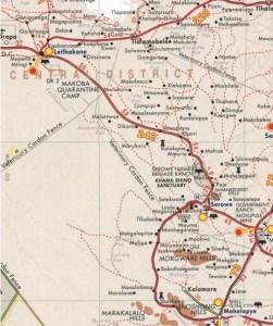 Shell Tourist Map Botswana