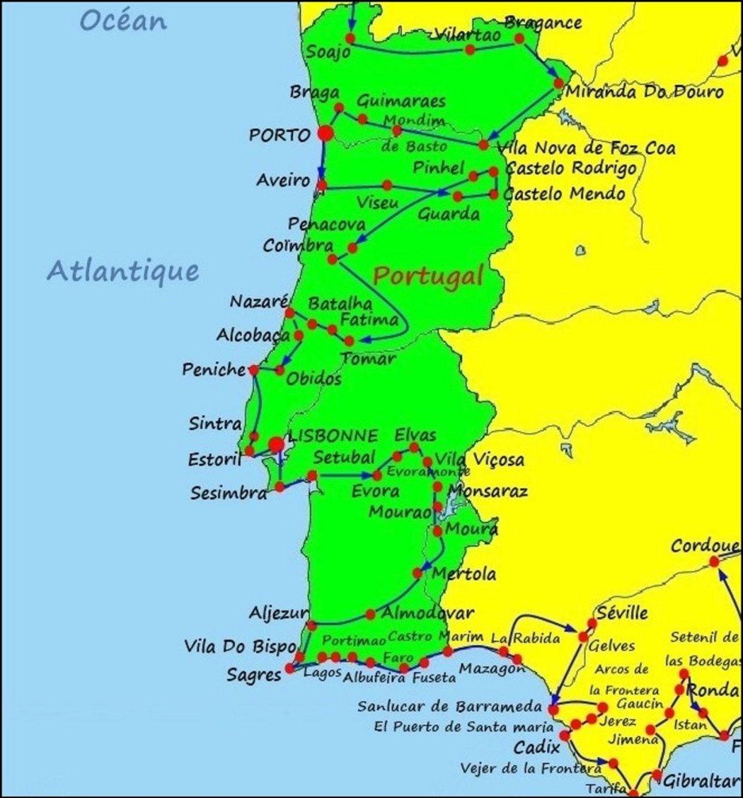 Le Portugal - De Soajo (Portugal) à Mazagon (Espagne)