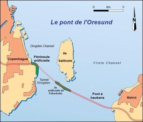 Le pont de l'Oresund (Suède - Danemark)