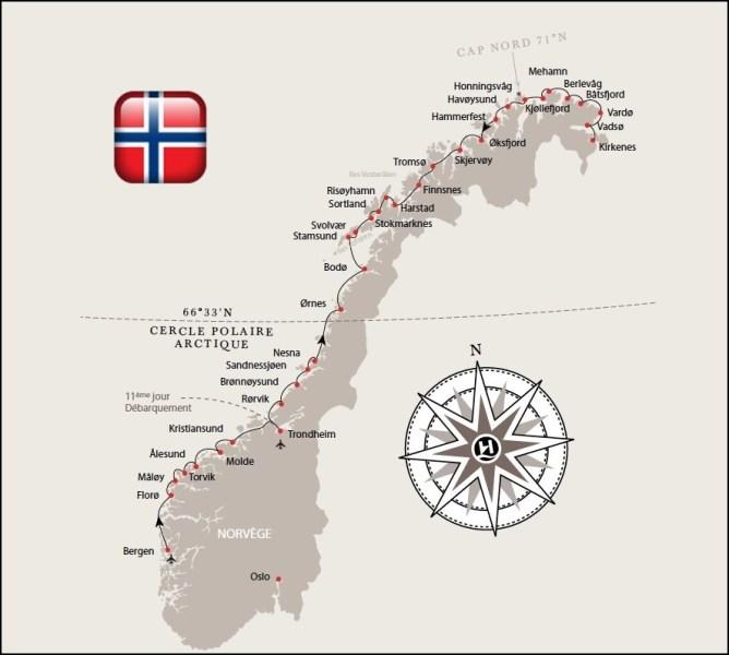 Les escales de l'Hurtigruten - l'express côtier norvégien