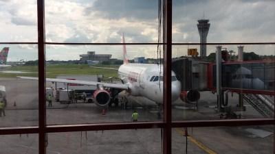 A l'aéroport de La Havane - Cuba