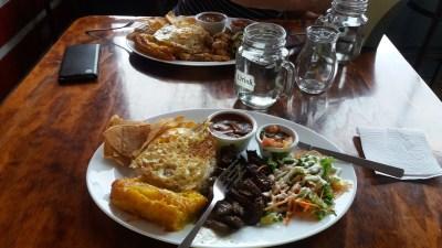 Au restaurant El Recreo - Zarcero (Costa Rica)