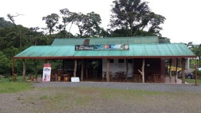 Bar à l'entrée du parc du volcan Tenorio - Costa Rica
