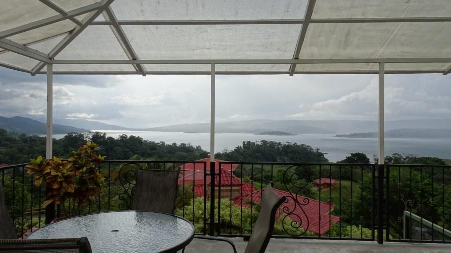 Vue sur le lac Arenal depuis notre hôtel d'El Castillo - Costa Rica