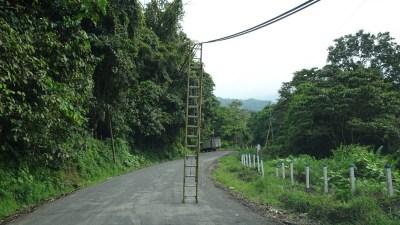 Travaux sur la route d'El Castillo - Costa Rica
