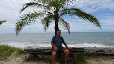 Repos en bord de mer du parc de Cahuita - Costa Rica