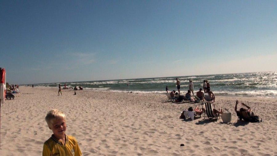La plage de Sandhammaren - Suède