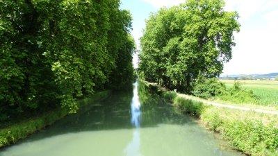 Le canal de Garonne - Damazan