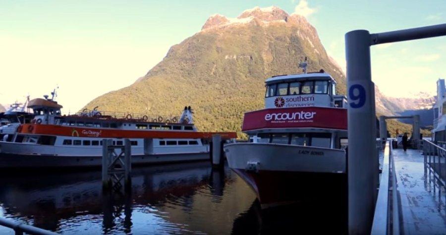 Le quai de Milford Sound - NZ