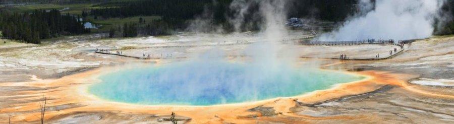 Le grand Prismatic Spring avec ses 90m de large (Yellowstone NP)
