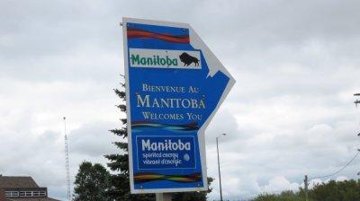 Sur la route entre Regina et Brandon - Canada