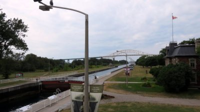L'International Bridge et le canal - Sault Sainte Marie (Canada)