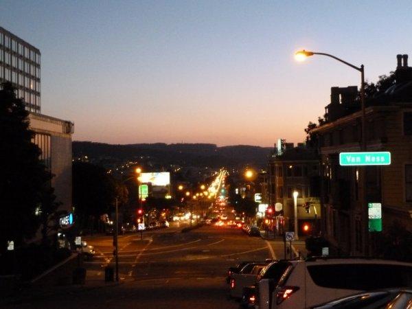 Lombard Street où se trouve notre hôtel - San Francisco (Californie)