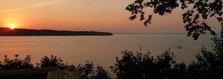 Coucher de soleil sur le Long Island Sound