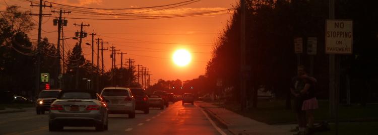 Coucher de soleil sur Long Island - New York