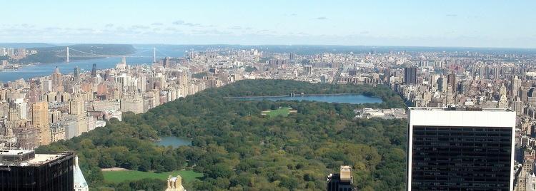 Central park vu du Top of the rock (Rockfeller)