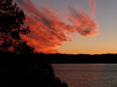 Coucher de soleil sur Sea Cliff - Long Island