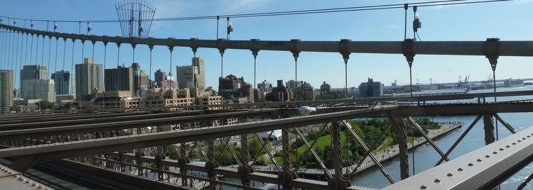 Sur le pont de Brooklyn - New York