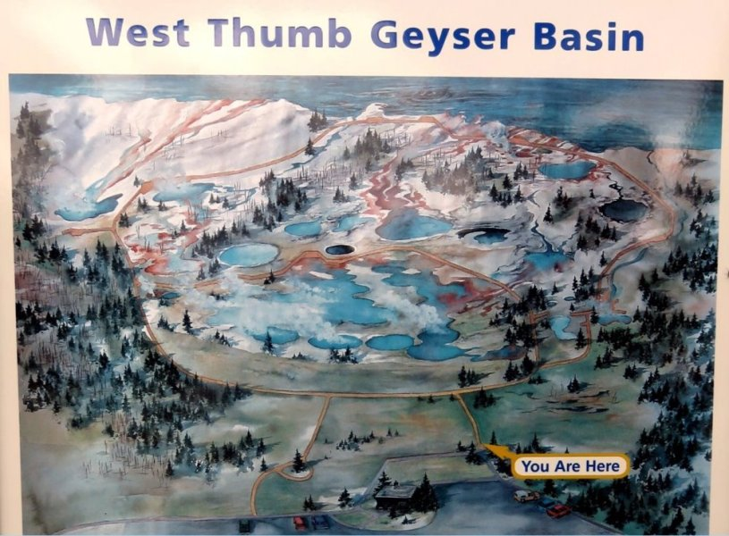 West Thumb Geyser Basin - Le Parc National de Yellowstone - Wyoming (USA)